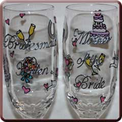 personalised wedding glasses from Unique Glasses